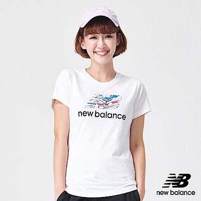 New Balance 短袖T恤_AWT91554WT_女性_白色