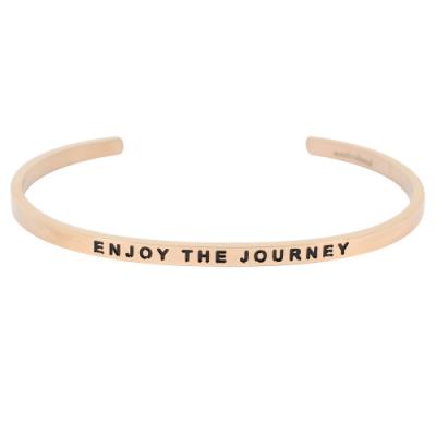 MANTRABAND Enjoy The Journey 享受旅途 悄悄話玫瑰金色手環