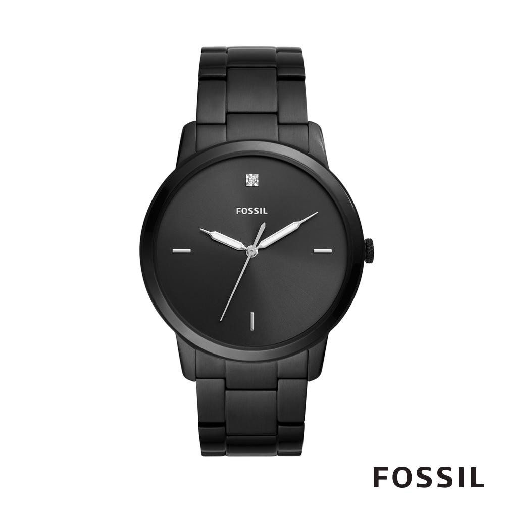 FOSSIL MINIMALIST 簡約設計中性鍊錶-黑 44mm FS5455