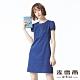 麥雪爾 泡泡袖連身洋裝-深藍 product thumbnail 1