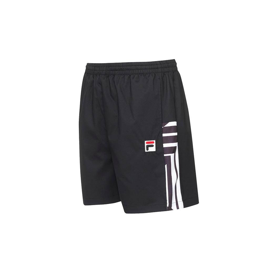 FILA 男平織短褲-黑色 1SHU-5005-BK
