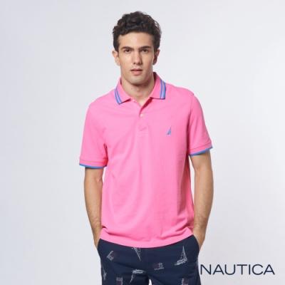 Nautica 機能型超彈力短袖POLO衫-粉