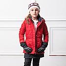 FILA KIDS 超潑水鋪棉長版外套-紅 5JKS-8434-RD