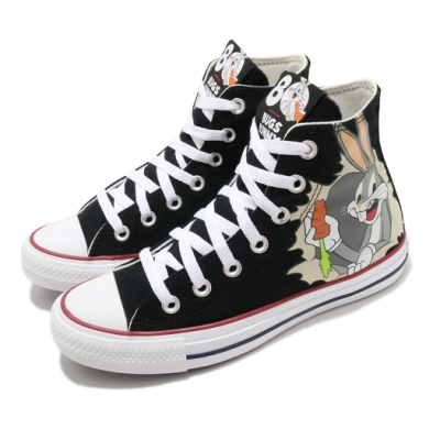 Converse 休閒鞋 All Star 高筒 穿搭 男女鞋 基本款 兔寶寶 聯名 情侶穿搭 簡約 黑 白 169225C