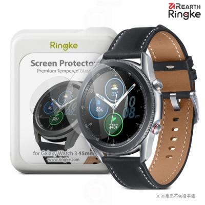 【Ringke】Rearth 三星 Samsung Galaxy Watch3 45mm [ID Glass] 強化玻璃螢幕保護貼(4片裝)