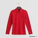 Hang Ten - 女裝 - 素面長袖POLO衫 - 紅