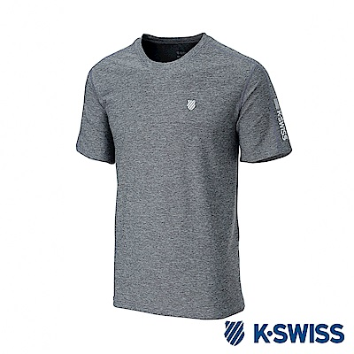 K-SWISS  PF RE Melange Tee排汗T恤-女-灰