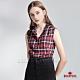 BRAPPERS 女款 立領無袖格紋襯衫-紅 product thumbnail 1