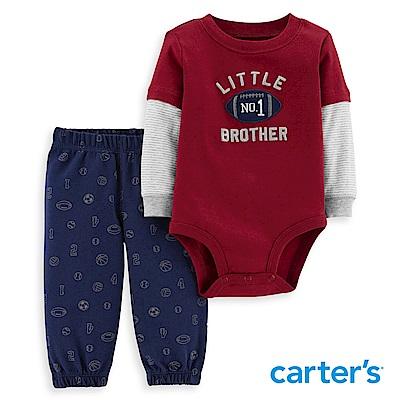Carter's 橄欖球印圖二件組套裝