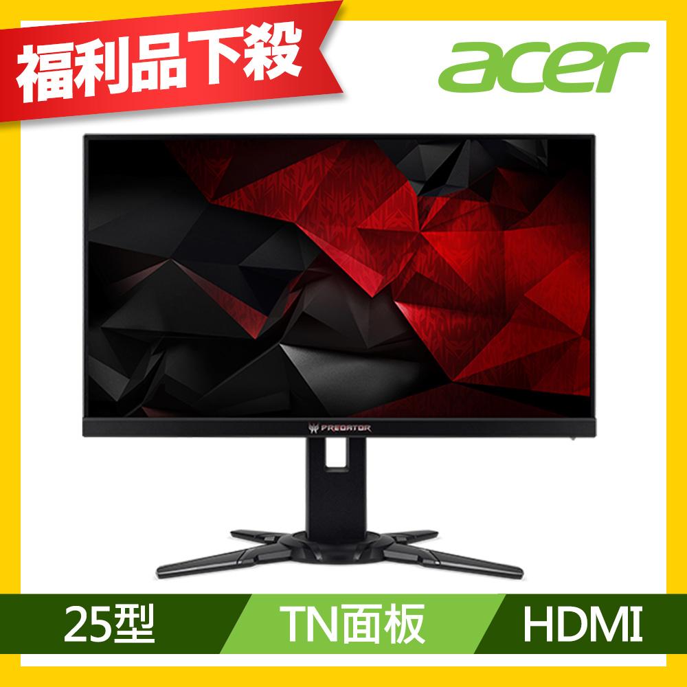 acer XB252Q 25型 無邊框極速電競電腦螢幕(福利品)