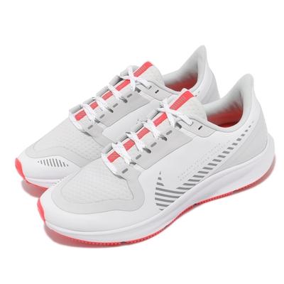 Nike 慢跑鞋 Pegasus 36 Shield 女鞋 氣墊 舒適 避震 路跑 防潑水 運動 白 銀 AQ8006100