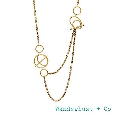 Wanderlust+Co INFUSION系列 幾何星軌鍍18K金長項鍊