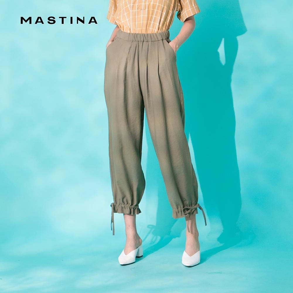 【MASTINA】褲口抽繩設計休閒-長褲(二色)