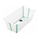 STOKKE Flexi Bath 折疊式浴盆(感溫水塞)-白色(湖水綠包邊)