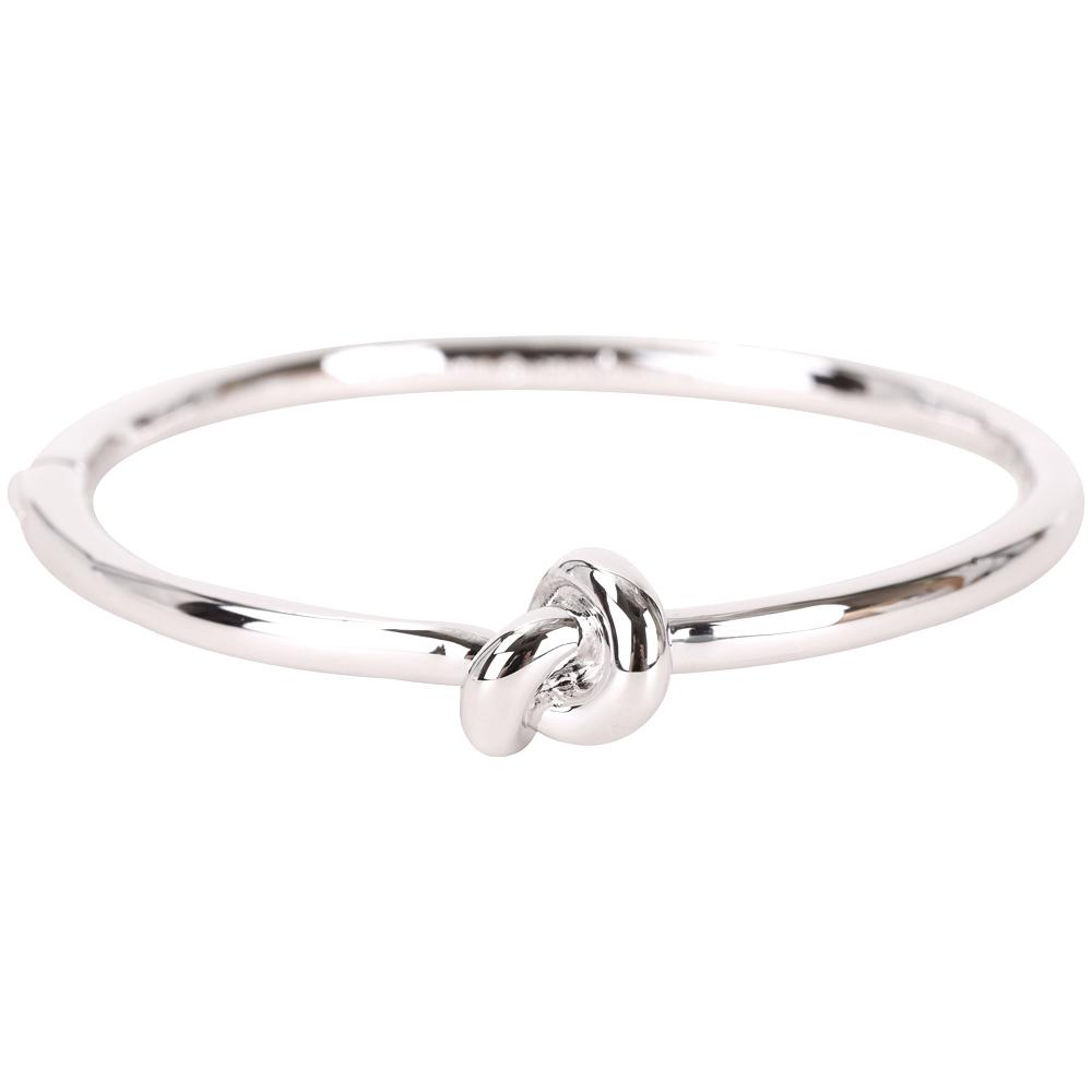 Kate Spade Sailors Knot 銀色同心結金屬手環