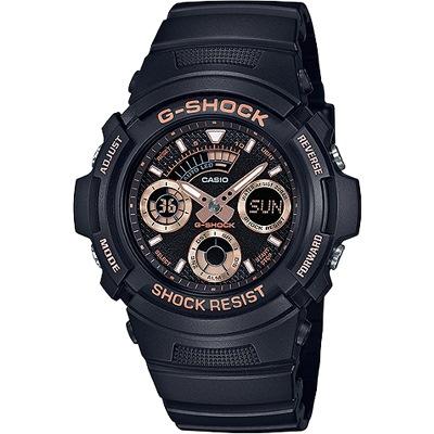 G-SHOCK 無限Tough精神雙顯腕錶-玫瑰金(AW-591GBX-1A4)/46mm