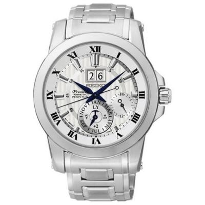 SEIKO 精工萬年曆古典傳世紳士錶(PREMIER 人動電能-7D56-0AB0S)