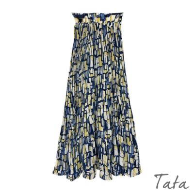 撞色色塊雪紡半身裙 共二色 TATA-F