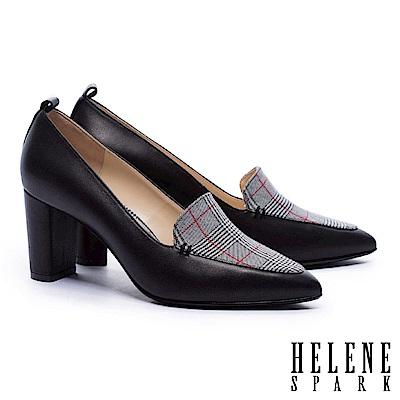 高跟鞋 HELENE SPARK 都市時尚拼接尖頭高跟鞋-格紋