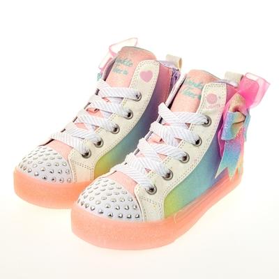 SKECHERS 女童系列 SHUFFLE BRIGHTS 燈鞋 - 314258LLPMT
