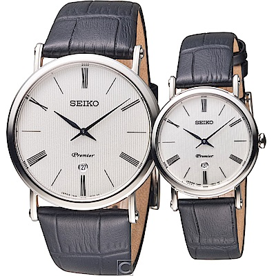 SEIKO Premier 真愛密碼時尚對錶(SKP395J1+SXB431J1)