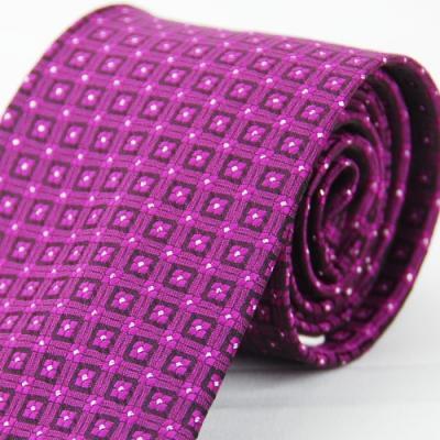 Alpaca 紫色方格紋領帶