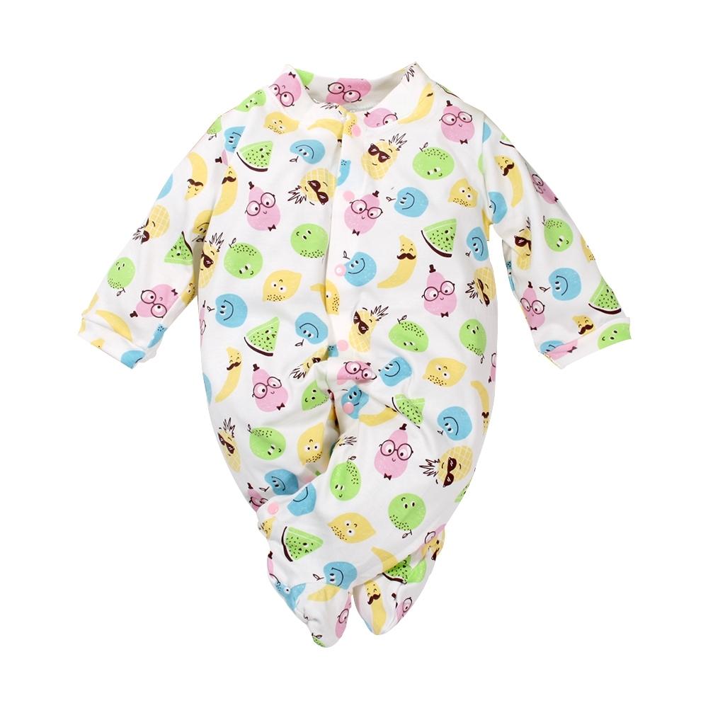 魔法Baby 台灣製寶寶長袖包腳連身衣 k61128