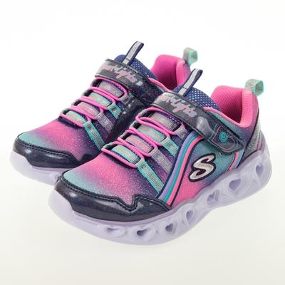 SKECHERS 女童系列 HEART LIGHTS 燈鞋 - 302308LNVMT