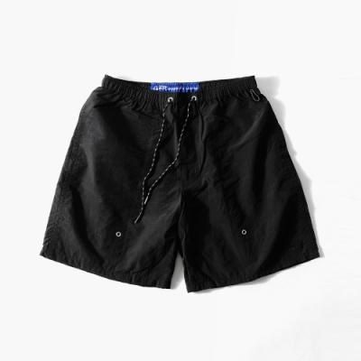 寬版短褲尼龍素色寬褲(3色) ZIP日本男裝