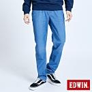EDWIN 大尺碼 JERSEYS EJ3 迦績 透氣中腰中直筒牛仔褲-男-重漂藍