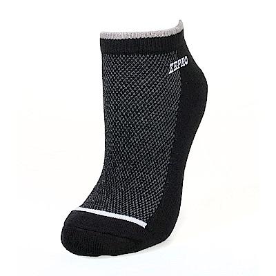【ZEPRO】男子運動抗菌慢跑襪-黑