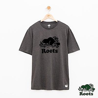 男裝Roots 庫柏海狸短袖T恤-黑