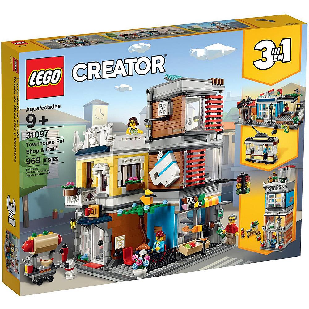 樂高LEGO 創意大師系列 - LT31097 寵物店和咖啡廳排樓