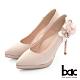 【bac】完美時刻尖頭側邊花朵裝飾防水台高跟鞋-珍珠粉紅 product thumbnail 1