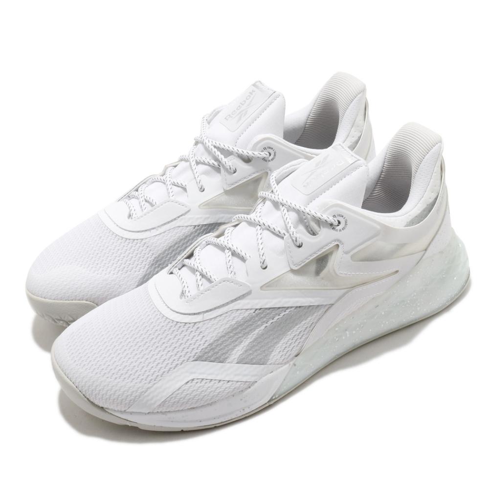 Reebok 訓練鞋 Nano X PR 反光 運動 男鞋 健身房 支撐 包覆 球鞋 穿搭 白 銀 FX7334