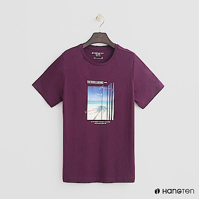 Hang Ten - 女裝 - 純色個性照片短T - 紫