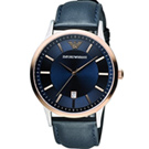 Emporio Armani  Classic 簡約內斂時尚腕錶(AR2506)藍/43m