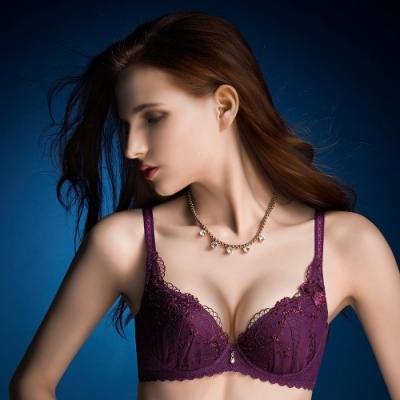 華歌爾 伊珊露絲浪漫花園B-D罩杯內衣(夢幻紫)