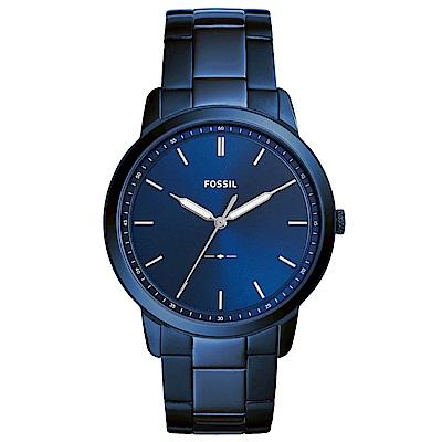 FOSSIL Minimalist紳士風尚時尚手錶(FS5461)-藍/44mm