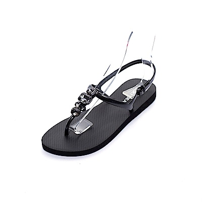 ROCKY BEAR 水鑽夾腳涼鞋-黑(女)