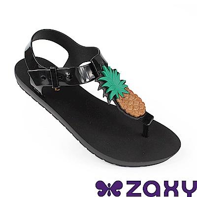 Zaxy 巴西 女水果樂園T字涼鞋-黑色