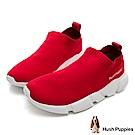 Hush Puppies Osprey 低筒襪套式針織休閒鞋(男)-紅