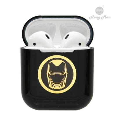 Marvel漫威 復仇者聯盟 AirPods硬式保護套 鋼鐵人 黑