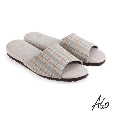 A.S.O 竹炭內裡紓壓抑菌系列居家鞋(升級版)-灰綠-3入組