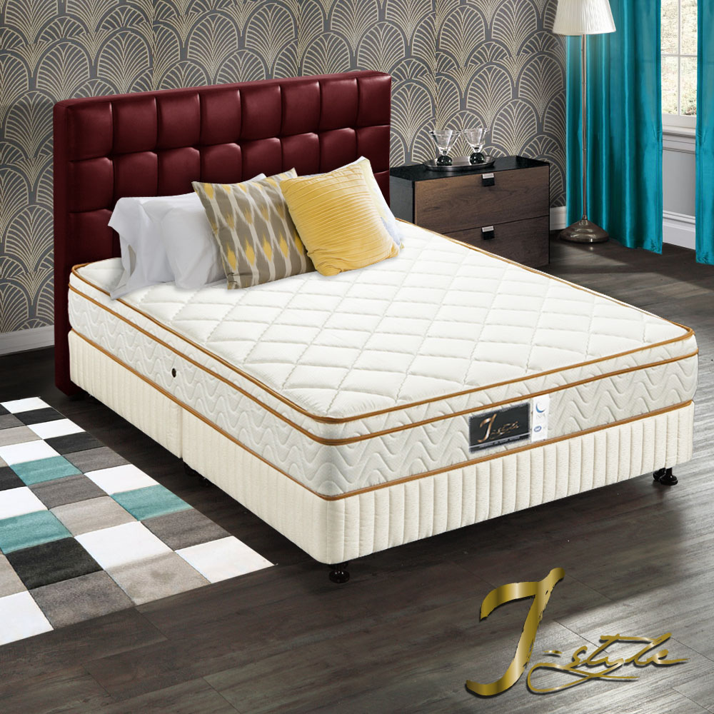 J-style婕絲黛 飯店款3M防潑水乳膠彈簧床墊 雙人加大6x6.2尺