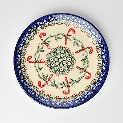 【波蘭陶 Vena】 拐杖糖系列 圓形餐盤 19cm 波蘭手工製