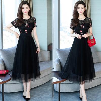 【韓國K.W.】追加款都會氣質短袖洋裝