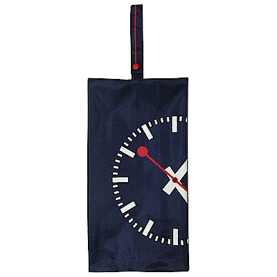 MONDAINE 瑞士國鐵經典時鐘鞋袋-深藍