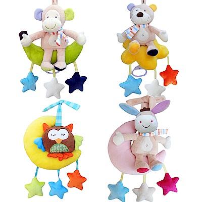 JoyNa 嬰兒寶寶床鈴 發條音樂拉鈴毛絨玩具