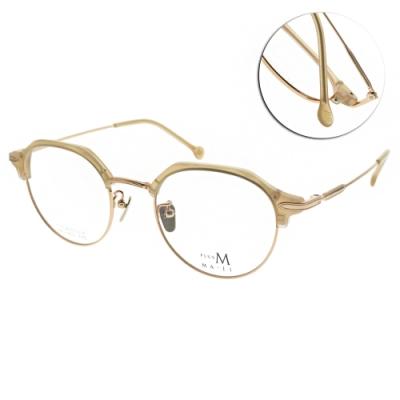 MA-JI MASATOMO 光學眼鏡 設計眉框款 鈦/金-膚 #PMJ054 C2